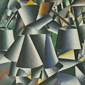 Kazimir Malevich Duzenlemeler Yapan Kadin Soyut Abstract Yagli Boya Klasik Sanat Kanvas Tablo