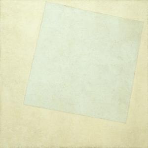 Kazimir Malevich  Kompozisyon Beyaz Ustune Beyaz Yagli Boya Klasik Sanat Kanvas Tablo
