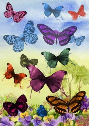 Kelebekler Sanat Kanvas Tablo