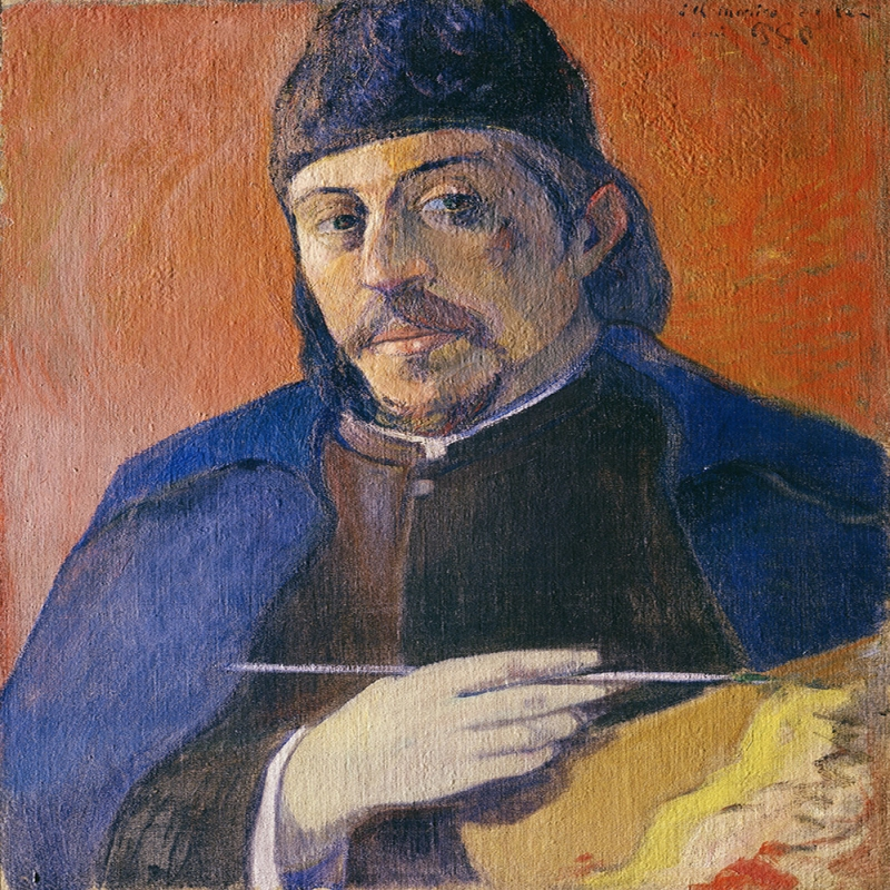 Kendi Portresi Paul Gauguin Reproduksiyon Kanvas Tablo