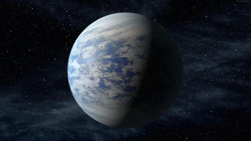 Kepler 2 Dünya & Uzay Kanvas Tablo