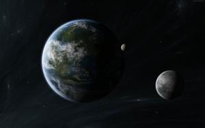 Kepler Uydu Gezegen Uzay Yıldızlar 3 Dünya & Uzay Kanvas Tablo