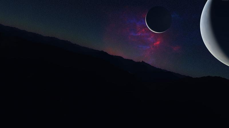 Kepler Uydu Gezegen Uzay Yıldızlar 6 Dünya & Uzay Kanvas Tablo