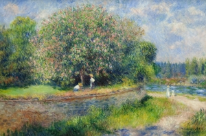 Kestane Ağaci Çiçeği, Pierre August Renoir, Chestnut Tree in Bloom Klasik Sanat Kanvas Tablo