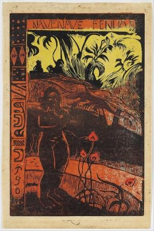 Keyifli Topraklar Nave Nave Fenua Delightful Land-1893 Paul Gauguin Reproduksiyon Kanvas Tablo