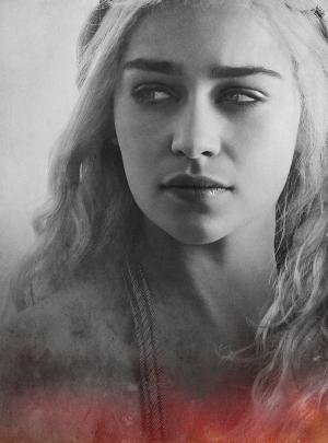 Khaleesi Çizim Game Of Thrones 2 Popüler Kültür Kanvas Tablo