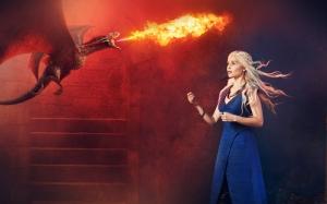 Khaleesi Çizim Game Of Thrones 3 Popüler Kültür Kanvas Tablo