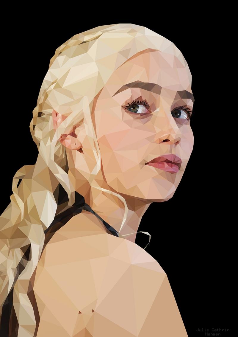 Khaleesi Çizim Game Of Thrones 4 Popüler Kültür Kanvas Tablo