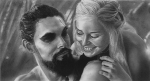 Khaleesi Çizim Game Of Thrones Popüler Kültür Kanvas Tablo