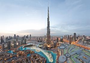 Khalifa Kulesi Dubai Şehir Manzarası Dünyaca Ünlü Şehirler Kanvas Tablo