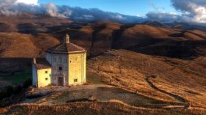 Kilise ve Doğa Manzarası Dini & İnanç Kanvas Tablo