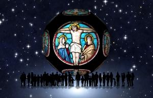 Kilise Vitray 3 Dini & İnanç Kanvas Tablo