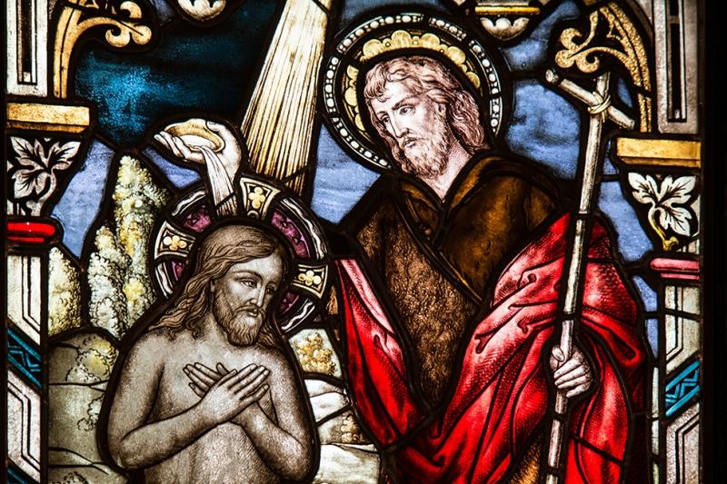 Kilise Vitray Detay Dini & İnanç Kanvas Tablo