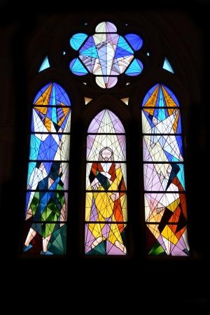 Kilise Vitray Dini & İnanç Kanvas Tablo