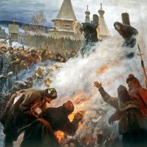 Kilisenin Bölünmesi, Ayrılıkçı Papazların Rusya'da Yakılışı Klasik Sanat Kanvas Tablo