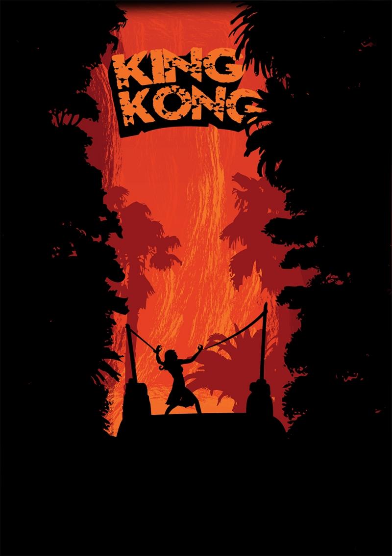 King Kong Poster Retro & Motto Kanvas Tablo