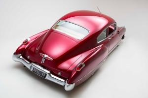 Kirmizi 1949 Model Buick Klasik Otomobiller 2 Eski Amerikan Klasik Arabalar Kanvas Tablo