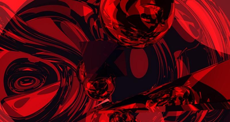 Kırmızı Abstract 2 Dijital ve Fantastik Kanvas Tablo