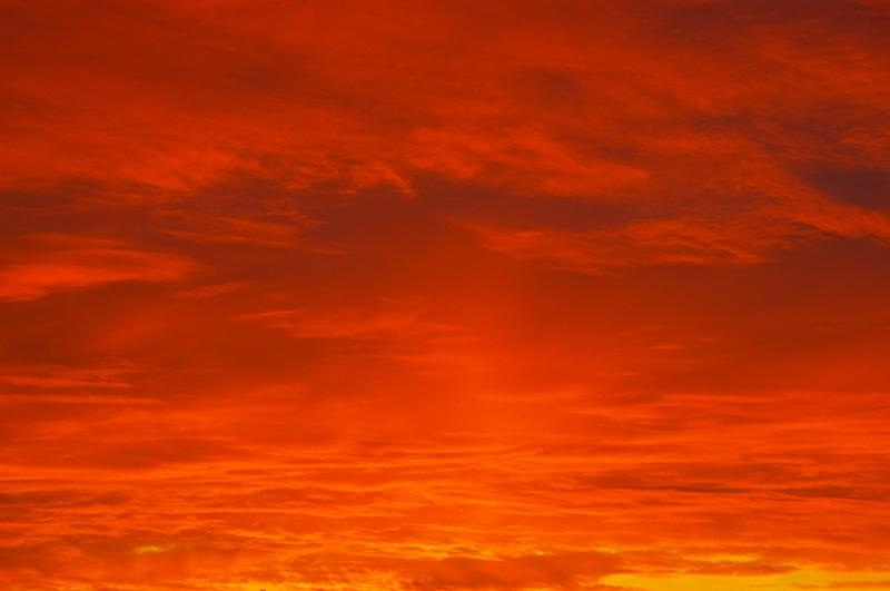 Kırmızı Gökyüzü Doğa Manzaraları Kanvas Tablo
