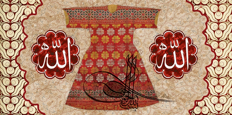 Kırmızı Kaftan Osmanlı ve İslami Exclusive Kanvas Tablo