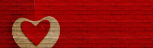 Kırmızı Kalp Aşk & Sevgi Kanvas Tablo