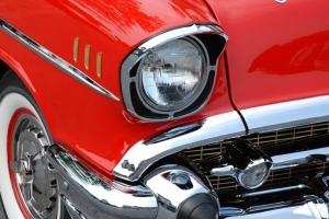 Kırmızı Klasik Otomobil Araçlar Kanvas Tablo