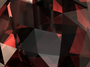 Kırmızı Pırlanta Abstract Dijital ve Fantastik Kanvas Tablo