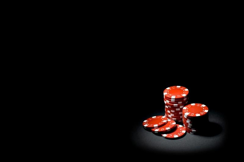 Kırmızı Poker Fişleri Fotoğraf Kanvas Tablo