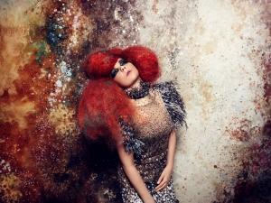 Kırmızı Saçlı Kız Fotoğraf Kanvas Tablo