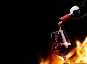 Kırmızı Şarap Lezzetler Kanvas Tablo
