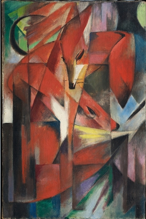 Kırmızı Tilki Franz Marc The Red Fox Reprodüksiyon Kanvas Tablo