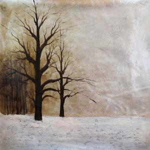 Kış Manzarası 2, Karlar Dekoratif Kanvas Tablo