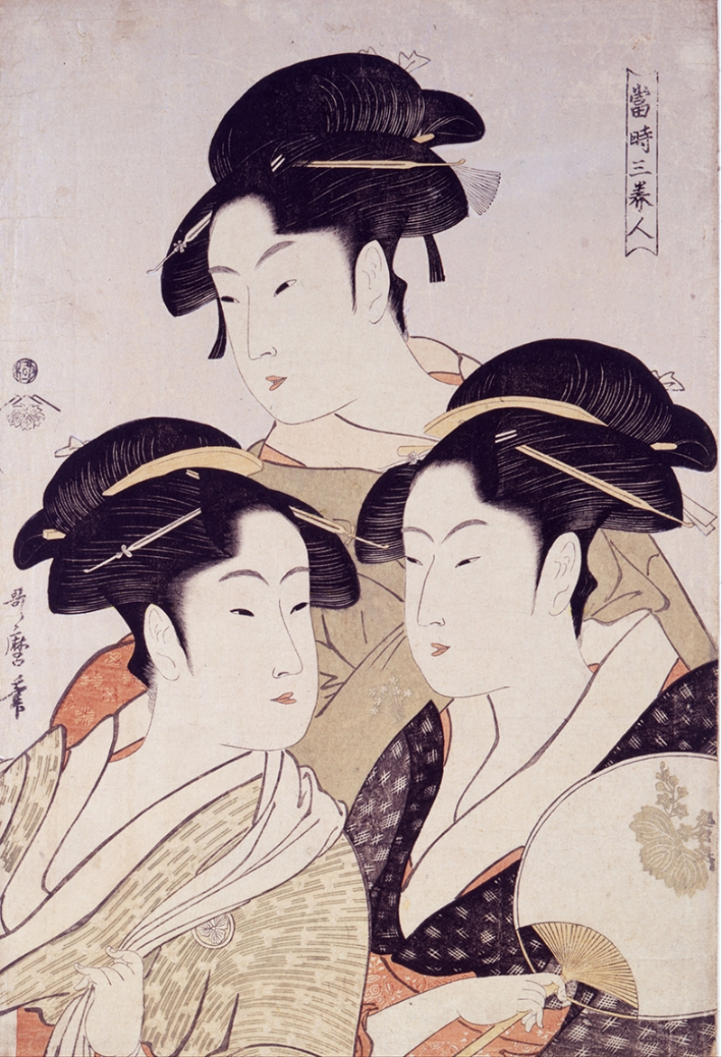 Kitagawa Utamaro Japon Yağlı Boya Sanat Kanvas Tablo