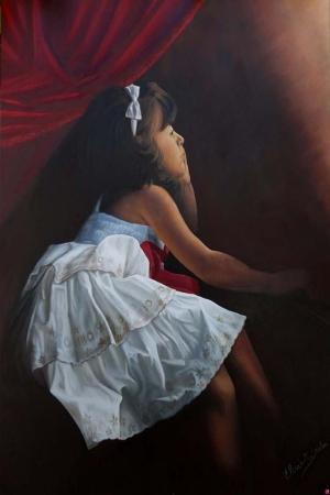 Kız Çocuğu Sanat Kanvas Tablo