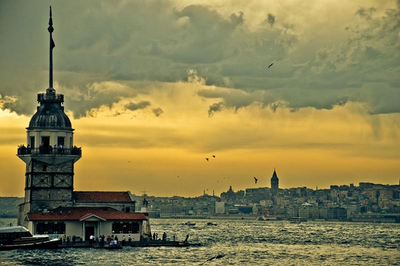 Kız Kulesi 10 Dünyaca Ünlü Şehirler Kanvas Tablo
