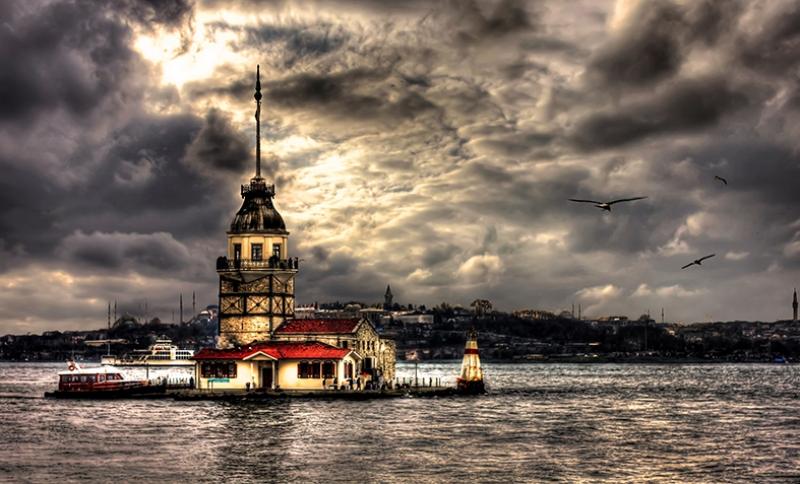 Kız Kulesi 11 Dünyaca Ünlü Şehirler Kanvas Tablo