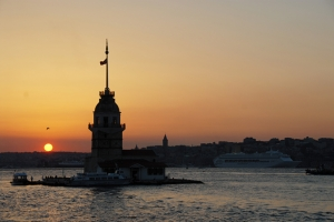 Kız Kulesi 2 Dünyaca Ünlü Şehirler Kanvas Tablo