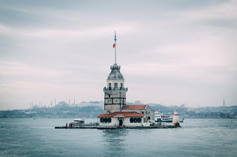 Kız Kulesi 4 Dünyaca Ünlü Şehirler Kanvas Tablo
