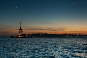 Kız Kulesi 5 Dünyaca Ünlü Şehirler Kanvas Tablo