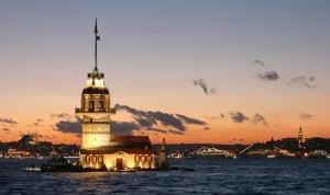 Kız Kulesi 6 Dünyaca Ünlü Şehirler Kanvas Tablo