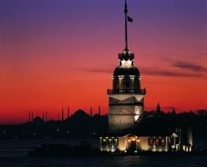 Kız Kulesi 7 Dünyaca Ünlü Şehirler Kanvas Tablo