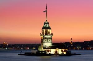 Kız Kulesi Dünyaca Ünlü Şehirler Kanvas Tablo