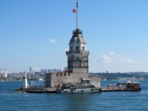 Kız Kulesi İstanbul Dünyaca Ünlü Şehirler Kanvas Tablo