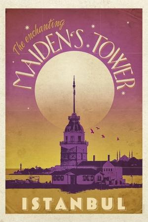 Kız Kulesi Şehirler Kanvas Tablo