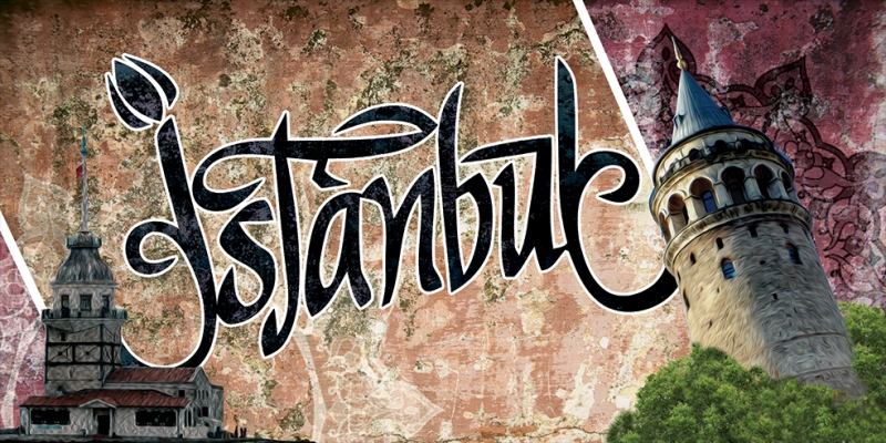 Kız Kulesi ve Galata İstanbul Unique Kanvas Tablo