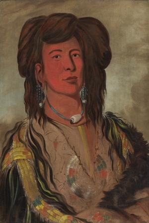 Kızıl Derililer Amerikan Yerlileri-14 Modern Sanat Kanvas Tablo