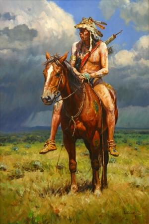 Kızıl Derililer Amerikan Yerlileri-21 Modern Sanat Kanvas Tablo