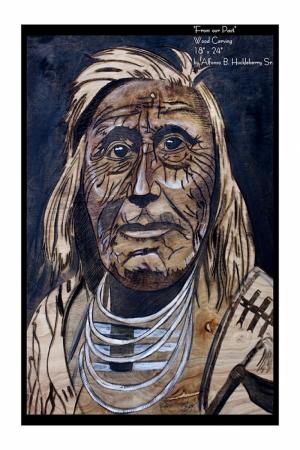 Kızıl Derililer Amerikan Yerlileri-25 Modern Sanat Kanvas Tablo