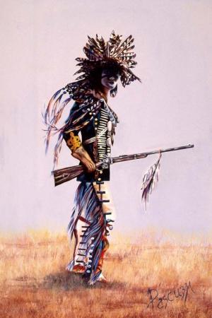 Kızıl Derililer Amerikan Yerlileri-30 Modern Sanat Kanvas Tablo