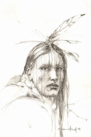 Kızıl Derililer Amerikan Yerlileri-35 Modern Sanat Kanvas Tablo